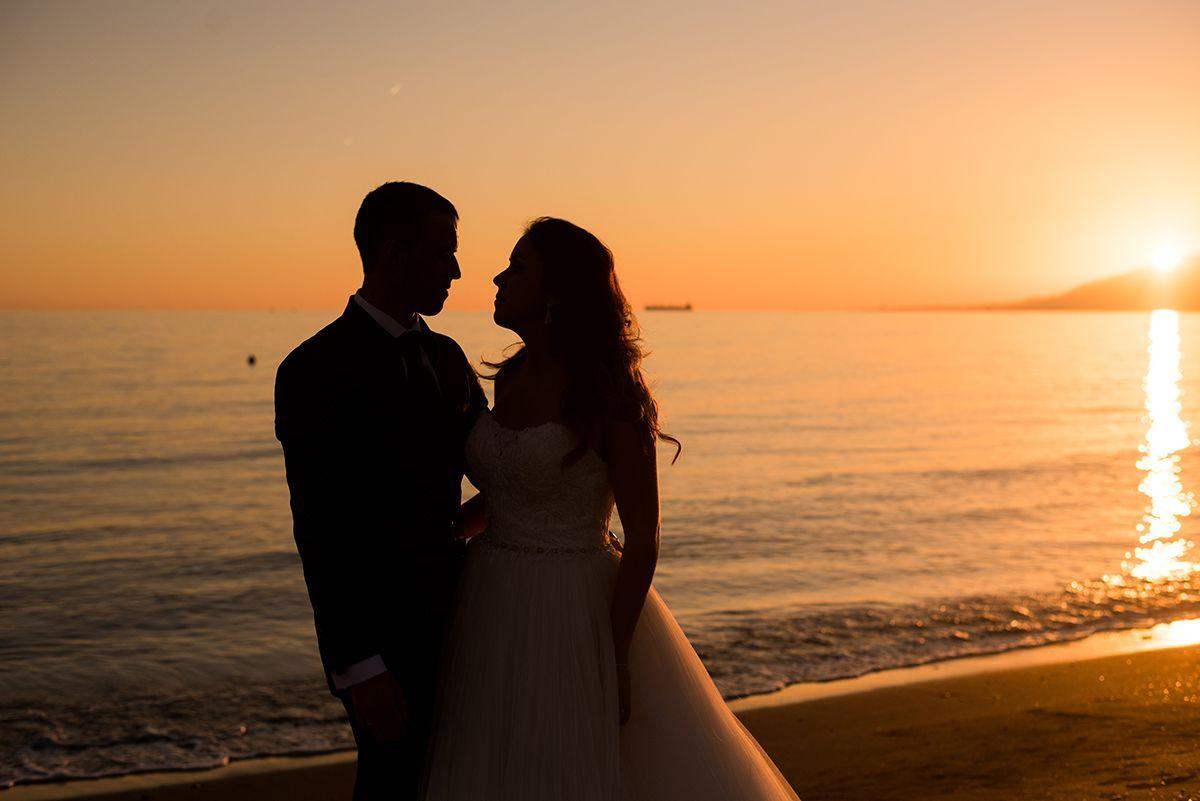 Fotos de boda al atardecer