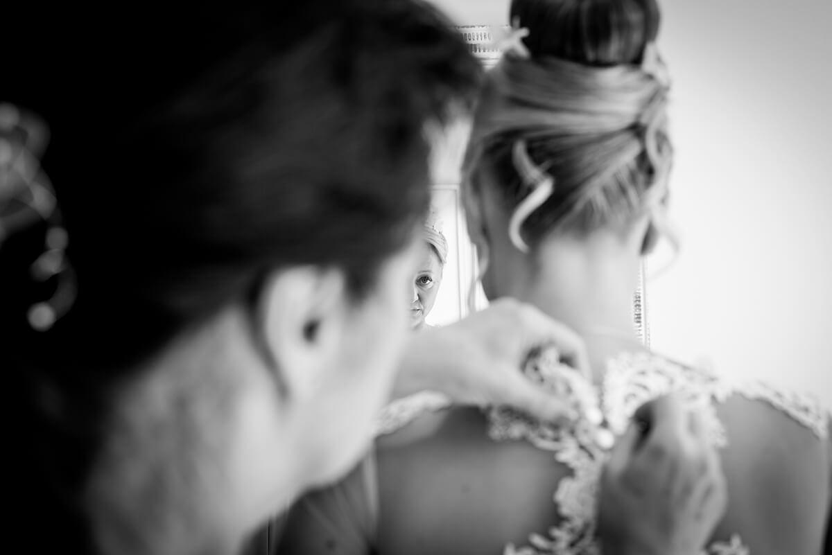 foto de boda en b y n