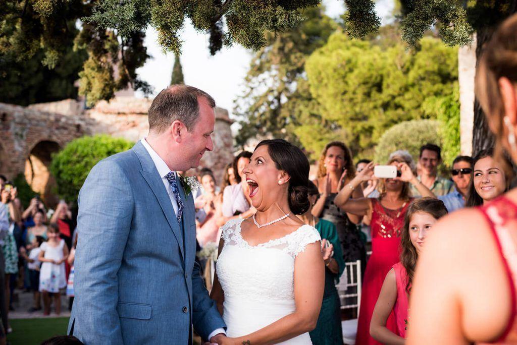 fotografia de boda en el castillo de santa catalina