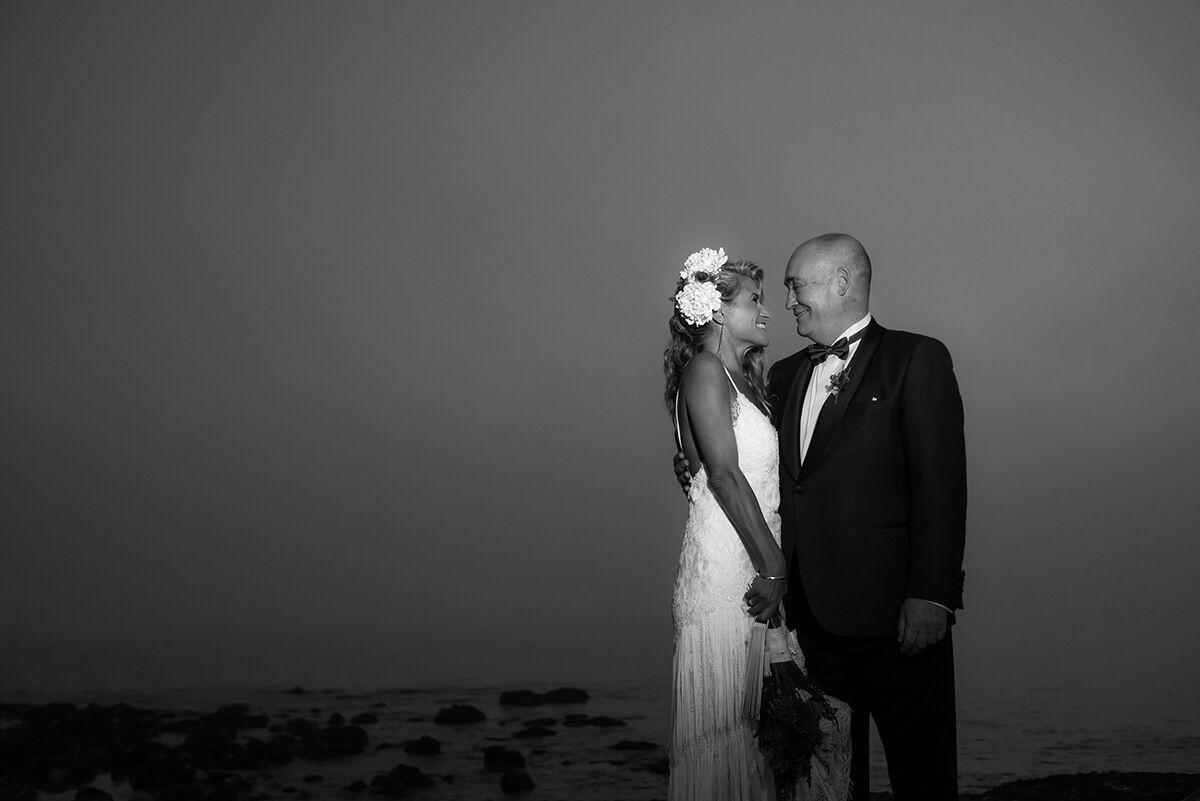 reportaje de boda en blanco y negro